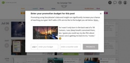 Storyblaster One-Click Paid Promotion Dialog