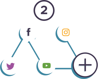 Add Social Media Accounts Icon