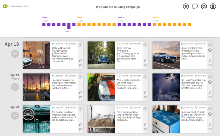 Storyblaster Campaign Planner